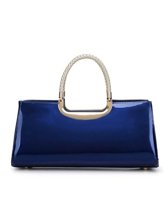 Braid Patent Leather Handbag - PINK  Mobile