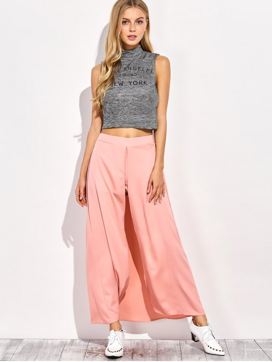 Maxi Skirt Shorts - PINK S Mobile
