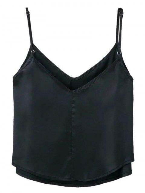 ladies Adjusted Satin Camisole - BLACK S Mobile