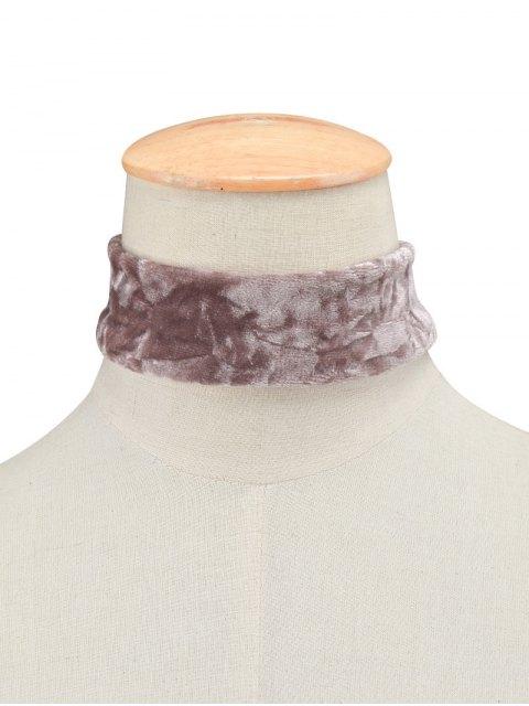 buy Adjustable Velvet Wide Choker Necklace - PURPLE  Mobile