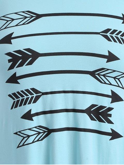new Long Sleeve Arrow Print Tee - LIGHT BLUE M Mobile