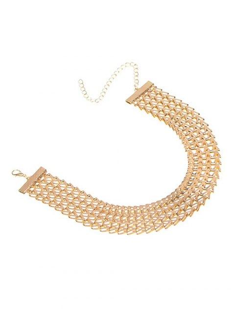 hot Geometric V Choker Necklace - GOLDEN  Mobile