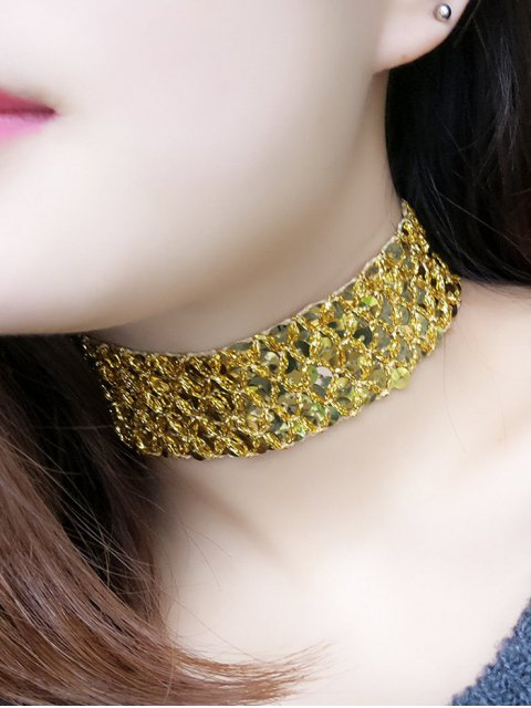 outfit Fish Scales Sequins Choker -   Mobile