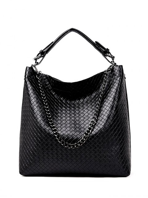 outfits Argyle Double Buckle Chain Tote Bag -   Mobile