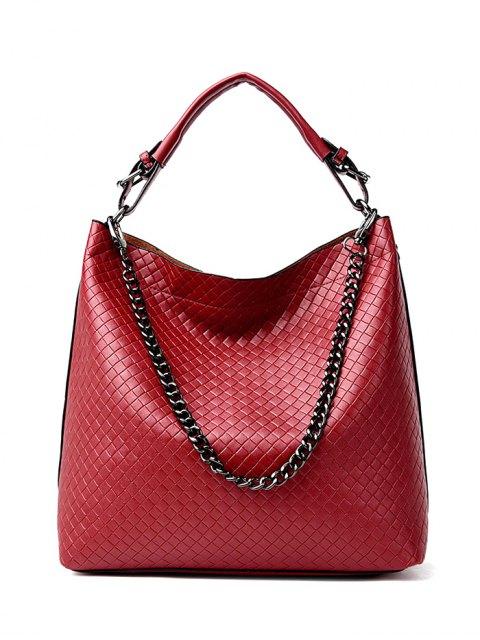 shops Argyle Double Buckle Chain Tote Bag -   Mobile