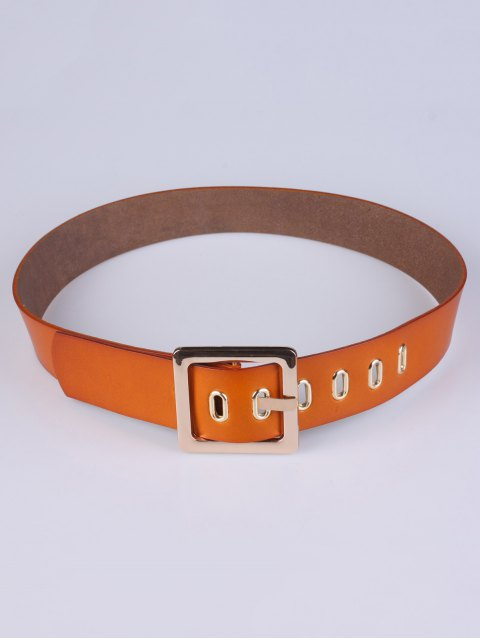 women's Square Buckle Belt - CHOCOLATE  Mobile