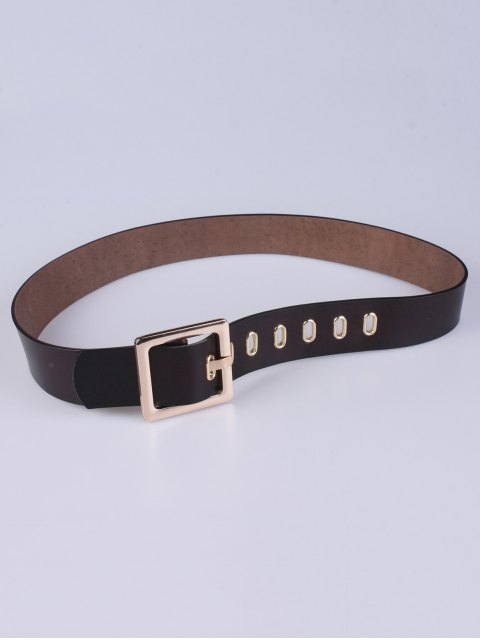 lady Square Buckle Belt - COFFEE  Mobile