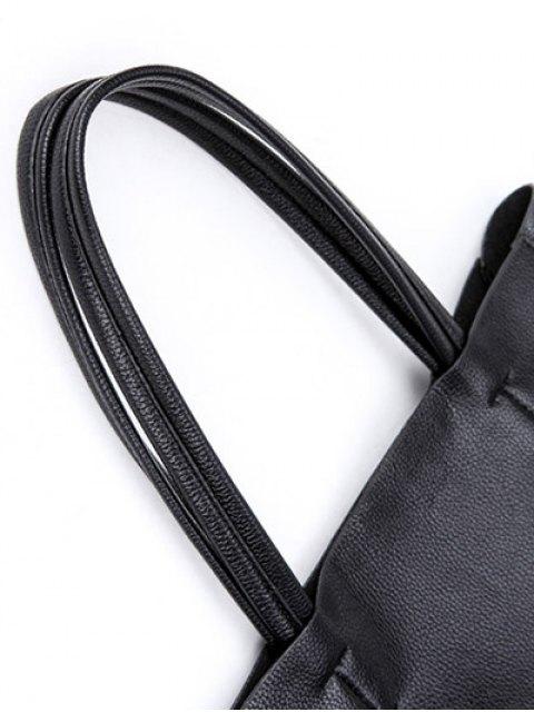 fancy Deer Printed Colour Block Snaps Shoulder Bag -   Mobile