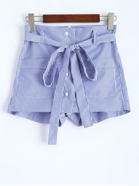 women's Striped Shorts - STRIPE 2XL Mobile