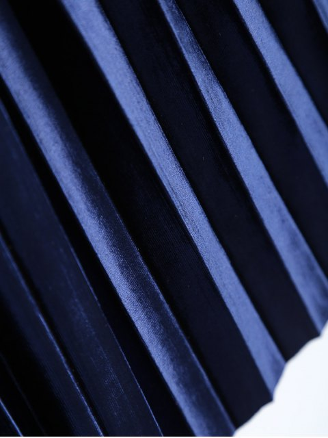 ladies Accordion Pleat Skirt - SAPPHIRE BLUE ONE SIZE Mobile