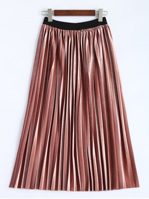 lady Accordion Pleat Skirt - DEEP PINK ONE SIZE Mobile