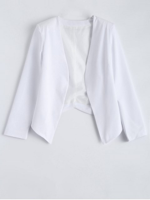 hot Collarless Open Front Blazer - WHITE 2XL Mobile