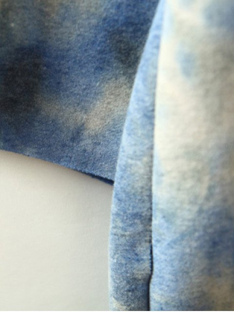 chic Ombre High-Low Sweatshirt - BLUE ONE SIZE Mobile
