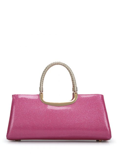 outfit Braid Patent Leather Handbag - PINK  Mobile