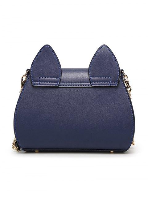 fashion Cat Ear Rhinestone Butterfly Crossbody Bag - PINK  Mobile
