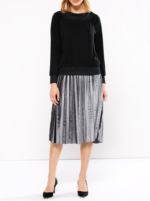 trendy Casual One-Shoulder Sweatshirt - BLACK 2XL Mobile