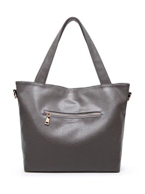 shops Pompons PU Leather Shouder Bag -   Mobile