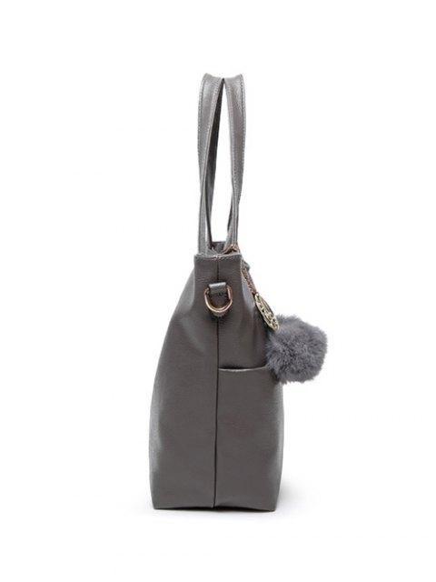 trendy Pompons PU Leather Shouder Bag -   Mobile