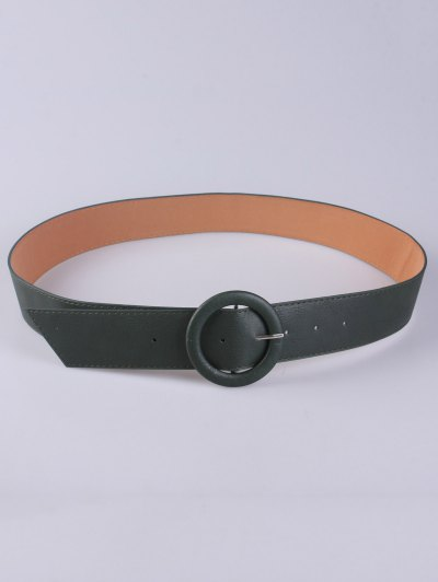 PU Round Buckle Belt - GREEN  Mobile