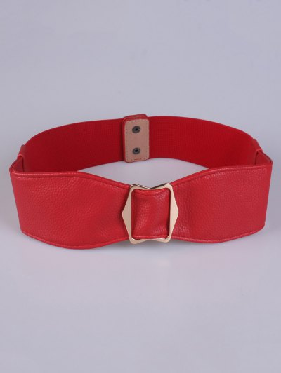 Bowknot Buckle Stretch Belt - RED  Mobile