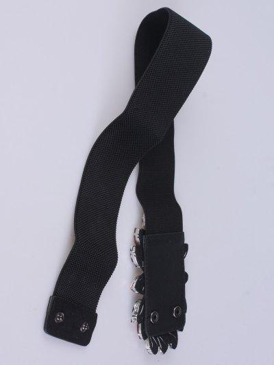 Faux Crystal Stretch Belt - BLACK  Mobile