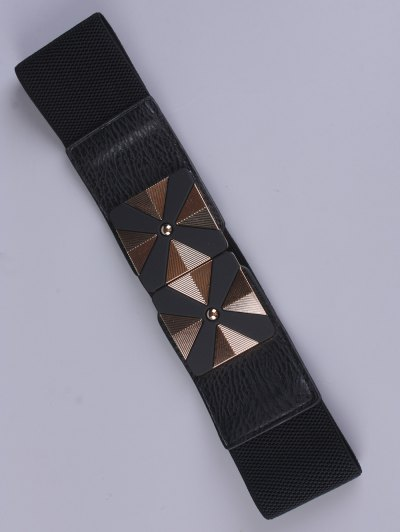 Square Alloy Stretch Belt - BLACK  Mobile