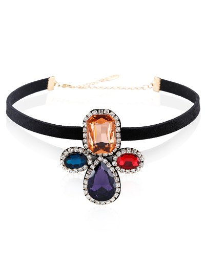 Velvet Geometric Choker - BLACK  Mobile