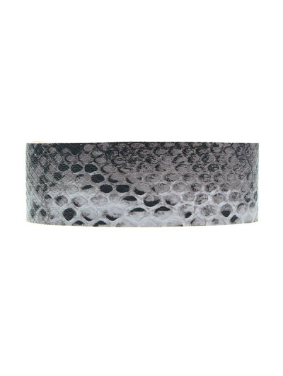 Faux Snakeskin PU Choker Necklace - BLACK  Mobile