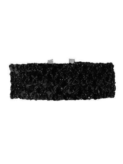 Fish Scales Sequins Choker - BLACK  Mobile