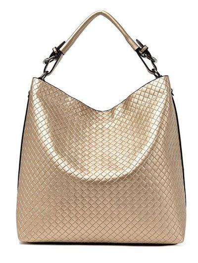 Argyle Double Buckle Chain Tote Bag - GOLDEN  Mobile