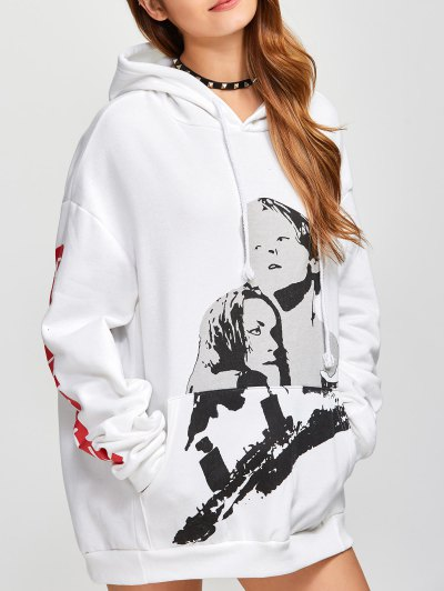 Fleece Oversized Hoodie - WHITE ONE SIZE Mobile