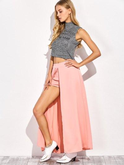 Maxi Skirt Shorts - PINK XL Mobile