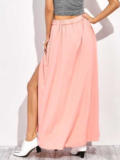 Maxi Skirt Shorts - PINK L Mobile
