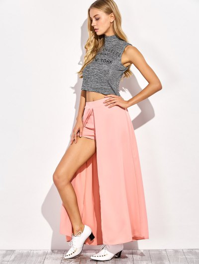 Maxi Skirt Shorts - PINK M Mobile