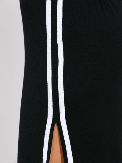 Cut Out Side Slit Maxi Dress - BLACK M Mobile