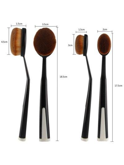 5 Pcs Toothbrush Shape Makeup Brushes Set with Holder - BLACK  Mobile