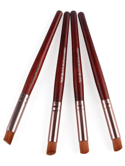 4 Pcs Angled Eye Makeup Brushes Set