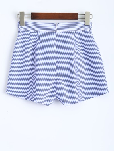 Belted Striped Skorts - STRIPE M Mobile