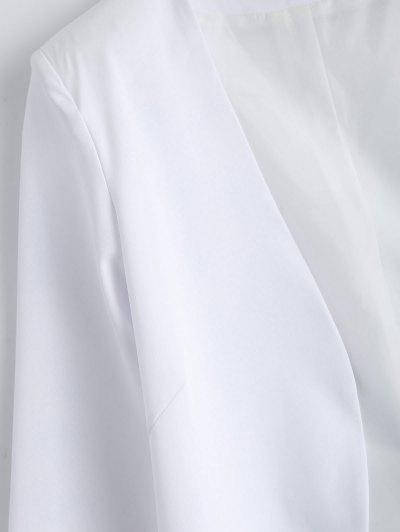 Collarless Open Front Blazer - WHITE 2XL Mobile