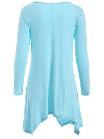 Long Sleeve Arrow Print Tee - LIGHT BLUE XL Mobile