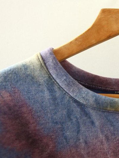 Ombre High-Low Sweatshirt - RED ONE SIZE Mobile
