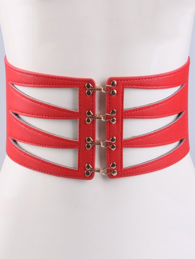 Hollow Triangle Waist Belt - RED  Mobile