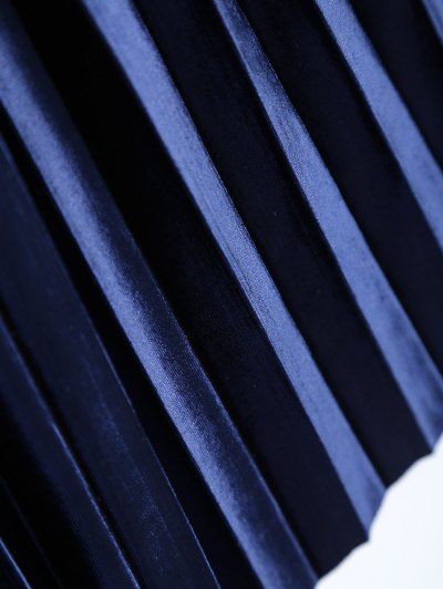 Accordion Pleat Skirt - SAPPHIRE BLUE ONE SIZE Mobile