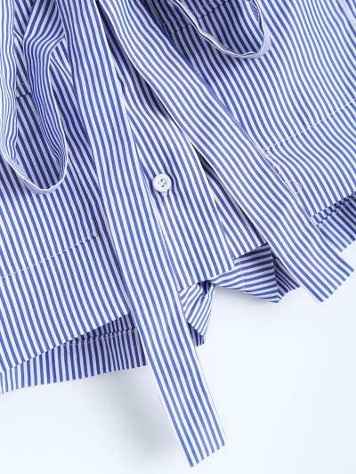 Belted Striped Shorts - STRIPE M Mobile
