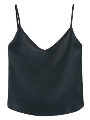 Adjusted Satin Camisole - Black