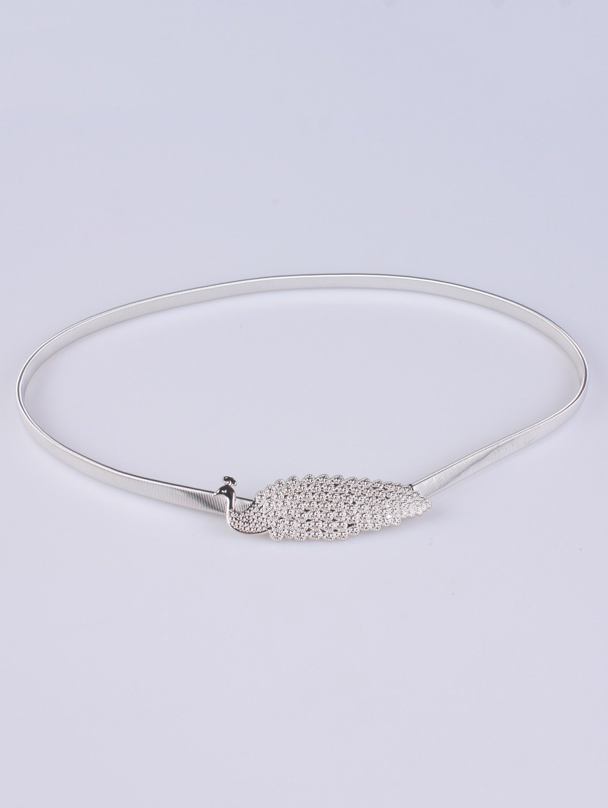 Peacock Alloy Metal BeltAccessories<br><br><br>Color: SILVER