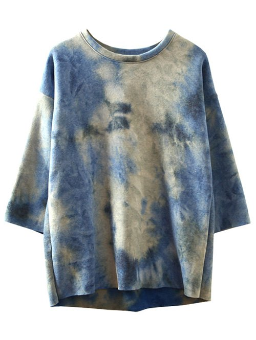 High-Low Ombre Sweatshirt