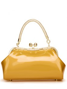 Patent Leather Metal Trimmed Handbag