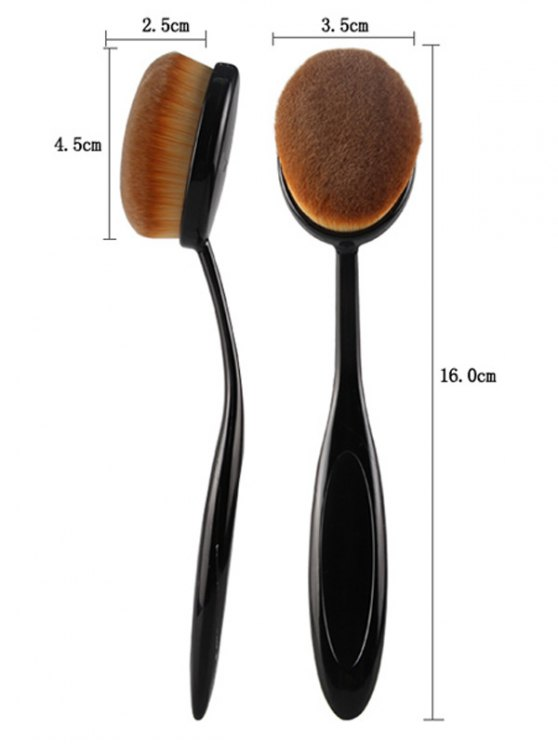4 Pcs Toothbrush Shape Makeup Brushes Set - BLACK  Mobile
