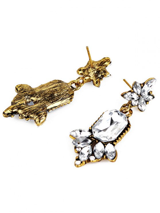 Faux Crystal Chandelier Floral Drop Earrings - WHITE  Mobile